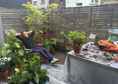 Aanplant klein schaduwterras - In Bloom