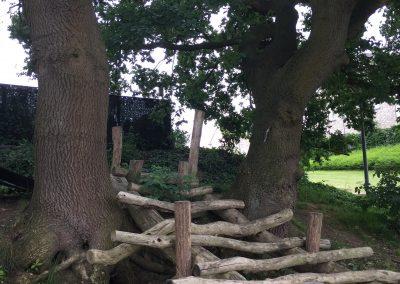 Natuurspeeltuin - boomstammen speeltuig - oude bomen - In Bloom